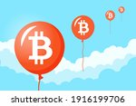bitcoin growth to the moon ...   Shutterstock .eps vector #1916199706