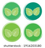 set leaf symbol vector icon... | Shutterstock .eps vector #1916203180