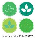 set leaf symbol vector icon... | Shutterstock .eps vector #1916203273