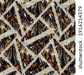 seamless sepia grunge geometric ... | Shutterstock . vector #1916214379