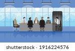 smartphone addiction concept.... | Shutterstock .eps vector #1916224576