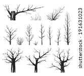 scratchy trees collection in... | Shutterstock . vector #191631023