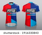 jersey design for cycling ... | Shutterstock .eps vector #1916330843