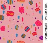 seamless pattern of bright... | Shutterstock .eps vector #1916355506