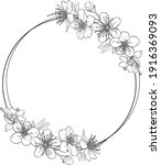 wreath with flowers. circle ...   Shutterstock .eps vector #1916369093