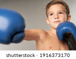 Adorable Boy Boxer Practicing...