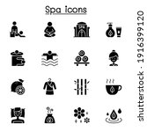 spa  massage  aroma therapy...   Shutterstock .eps vector #1916399120