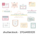 a set of simple designs such as ... | Shutterstock .eps vector #1916400320