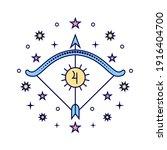 sagittarius zodiac sign on...   Shutterstock .eps vector #1916404700