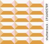 seamless geometric 3 d pattern | Shutterstock .eps vector #1916405789