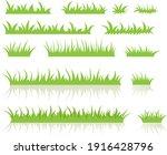 green grass  vector set for... | Shutterstock .eps vector #1916428796