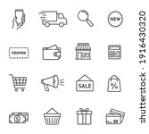 set of shopping icons in line... | Shutterstock .eps vector #1916430320
