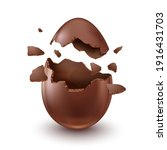 chocolate egg  child's surprise ... | Shutterstock .eps vector #1916431703