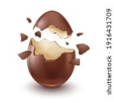 chocolate egg  child's surprise ... | Shutterstock .eps vector #1916431709