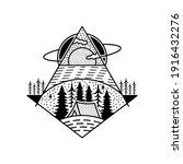camping adventure tattoo design.... | Shutterstock .eps vector #1916432276
