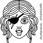 black and white tattoo linework ... | Shutterstock .eps vector #1916441690