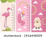 kids height chart. vector... | Shutterstock .eps vector #1916448509