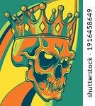 Skull King Crown Design Element ...