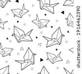 origami black white line... | Shutterstock .eps vector #1916462390