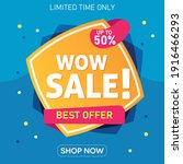 wow sale special offer banner....   Shutterstock .eps vector #1916466293