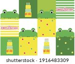 Frog Illustration Pattern Baby...