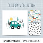 collection illustrations with... | Shutterstock .eps vector #1916483816