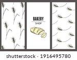 set of brochures for a bakery... | Shutterstock .eps vector #1916495780