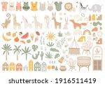 big set with nursery essential...   Shutterstock .eps vector #1916511419