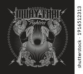 muay thai fighters emblem crest ...   Shutterstock .eps vector #1916512313
