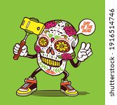 Selfie Day Of The Dead Skull...