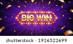 big win. retro big win... | Shutterstock .eps vector #1916522699