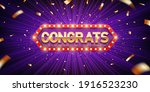congrats. retro congratulation...   Shutterstock .eps vector #1916523230