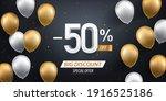 fifty percent discount. gold...   Shutterstock .eps vector #1916525186