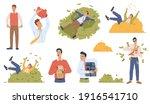 rich and poor people set... | Shutterstock .eps vector #1916541710