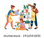 people mother father and girl... | Shutterstock .eps vector #1916541830
