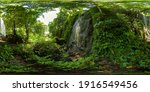 Waterfall In The Green Forest....