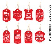 sale labels set isolated on... | Shutterstock . vector #191657393