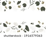 background with plants. modern  ... | Shutterstock .eps vector #1916579363