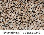 Stacks Of Firewood. Preparation ...