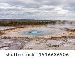 Eruption Of Strokkur Geyser In...