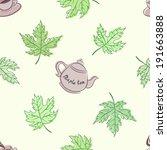 colorful vintage maple tea. | Shutterstock .eps vector #191663888