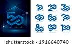 set of 10 to 100 anniversary... | Shutterstock .eps vector #1916640740