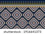 gemetric ethnic oriental ikat... | Shutterstock .eps vector #1916641373