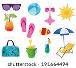 summer elements | Shutterstock .eps vector #191664494