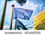 eu flags in front of european... | Shutterstock . vector #191665550
