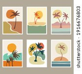 Abstract Beach Landscape Cover...