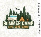summer camp. live  love  camp...   Shutterstock .eps vector #1916705519