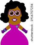 african american woman vector... | Shutterstock .eps vector #1916707256