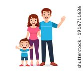 cute little boy with mom and...   Shutterstock .eps vector #1916711636