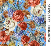 Seamless Textile Pattern With...